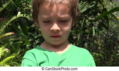 Curious Young Toddler Boy