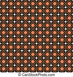 Abstract seamless geometric pattern Rhombuses with rounded...