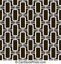 Seamless pattern of elegant lattice with narrow windows...