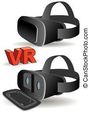 virtual reality headset - Virtual reality headset in black.