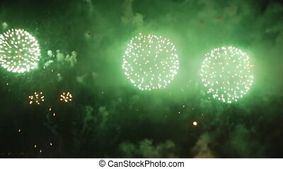 Fireworks at night - Great fireworks at night Celebrating...