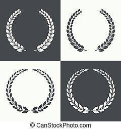 Circular laurel wreath - Set of circular laurel wreath...