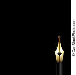 dark and golden pen