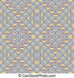 Cute seamless pattern in vintage colors - Beautiful seamless...