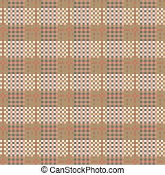 Seamless checkered pattern in country style. Criss-crossed...