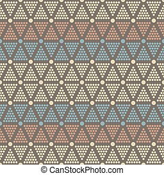 Abstract seamless pattern of dots and circles - Abstract...