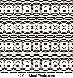 Seamless pattern of roundish crescent-shaped figures -...