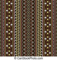 Seamless pattern with Maya style elements in white, black,...