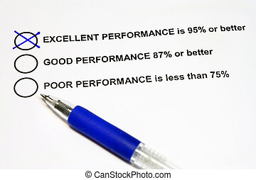 Excellent Performance with equivalent rating and percentage