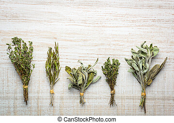 Sage, Thyme and Rosemary Cooking Herbs