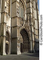 principal, portal, ligado, a, catedral, de, nosso, senhora,...