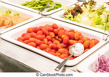 Salad bar - Selective focus point on Salad bar