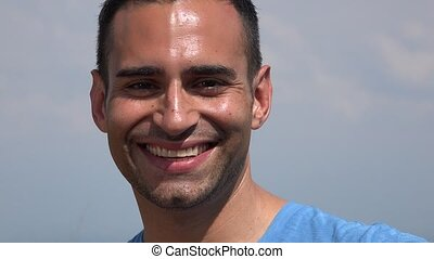 Smiling Young Hispanic Man