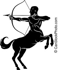 Centaur With Bow and Arrow - Centaur concept of mythical...