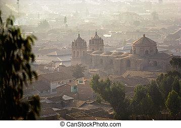 Cuzco, Peru - Early morning mist in Cuzco, Peru