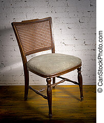 Still Life of  one vintage chair