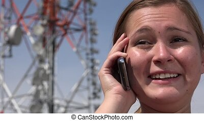 Female Talking On Cell