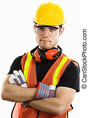 Construction Worker - Stock image of male construction...