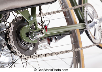 Vintage bicycle crank - Composition with back bicycle crank...
