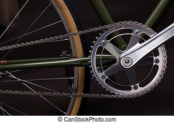 Vintage bicycle crank - Composition with one speed Vintage...