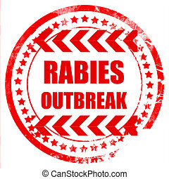 Rabies virus concept background with some soft smooth lines