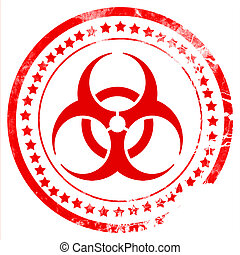 Bio hazard sign on a grunge background