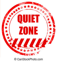 Quiet zone sign with some vivid colors