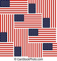 estados, unido, patrón, seamless, colorfull, América,...