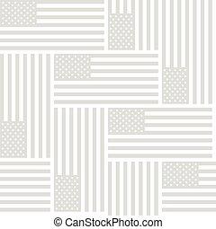 gris, unido, patrón, bandera, seamless, América, estados,...