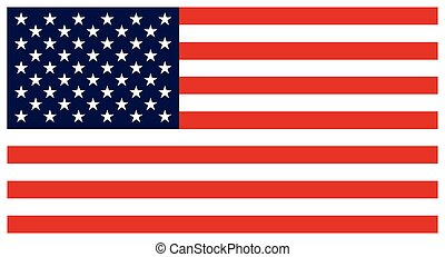 Flag of the United States. Colorful vector icon on white background.