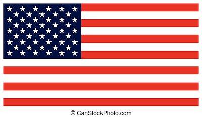 bandera, de, el, unido, States., colorido, vector, icono,...