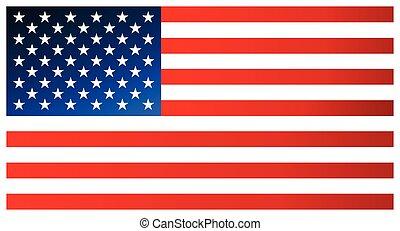 limpio, moderno, bandera, de, el, unido, estados, de,...