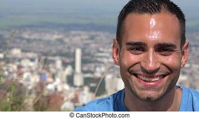 Smiling Young Hispanic Man