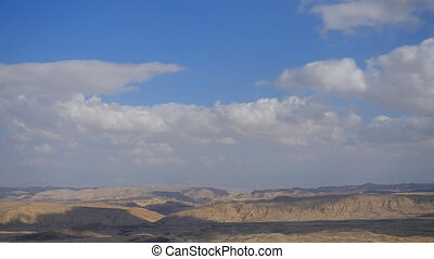 desert landscape, view from the heights