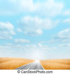 road on the desert