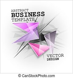 Sharp triangles on the abstract background. Vector busines...