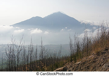 Mount Batur, Bali, Indonesia - View from Mount Gunung Batur,...