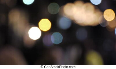 Defocus people - Defocus people walking on the street at...