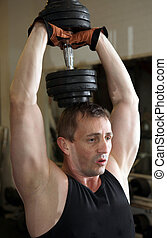training triceps weights dumbell