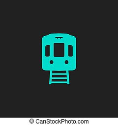 train flat icon - Train subway Flat simple modern...