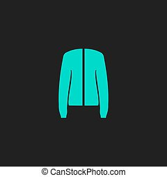 Jacket flat icon - Jacket. Flat simple modern illustration...