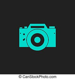 Digital photo camera Flat simple modern illustration...