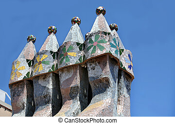 BARCELONA - AUGUST 13, 2007: The famous architect Gaudì ­...