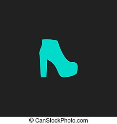 Womens shoes icon, vector illustration - Womens shoes Flat...