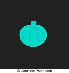 Pumpkin flat icon - Pumpkin Flat simple modern illustration...