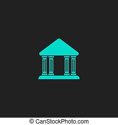court building vector icon - Court building Flat simple...