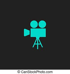 Video camera icon vector - Video film camera Flat simple...
