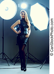 famous woman - Fashion shot of an attractive young woman in...