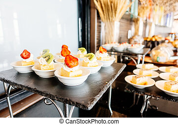 Catering buffet - Selective focus point Catering buffet in...
