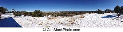 Panorama of Arizona Desert